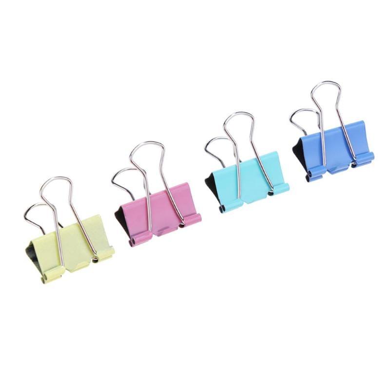 [해외]60 개/몫 15mm 다채로운 금속 바인더 클립 office 편지지 종이 클립 office 편지지 바인딩 용품 스테인레스 스틸 clipe/60 개/몫 15mm 다채로운 금속 바인더 클립 office 편지지 종이 클립 office 편지지 바인딩
