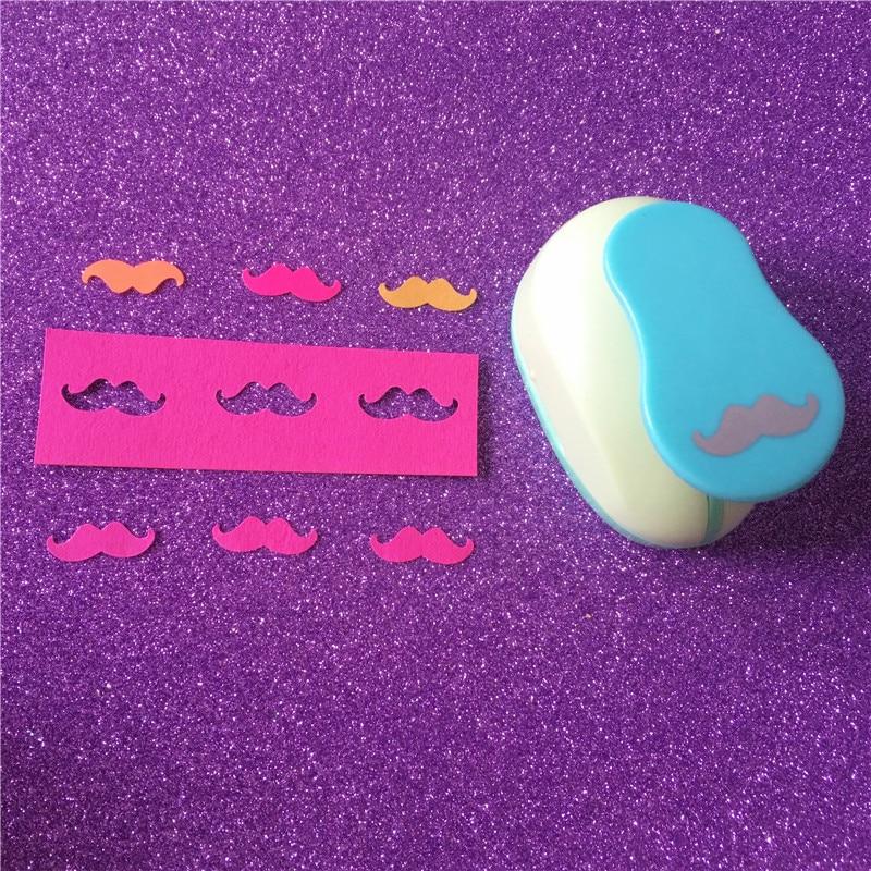[해외]새로운 1 인치 수염 eva 거품 구멍 펀치 종이 펀치 인사말 카드 수제 스크랩북 수제 콧수염 공예 펀치 기계