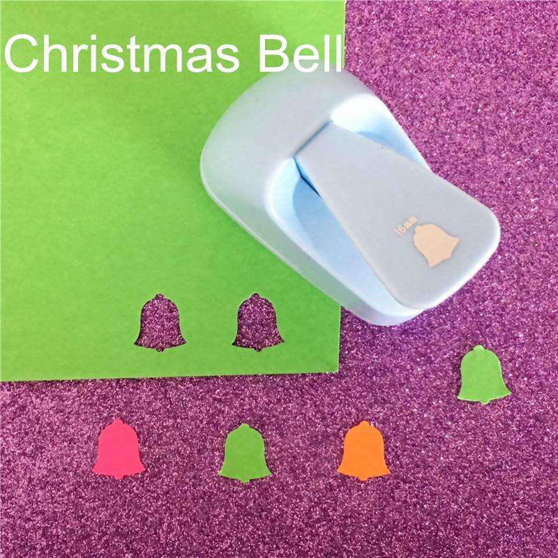 [해외] Christmas bell shape save power paper/eva craft punch Scrapbook Handmade punchers Child DIY hole punches puncher/ Christmas bell shape save power