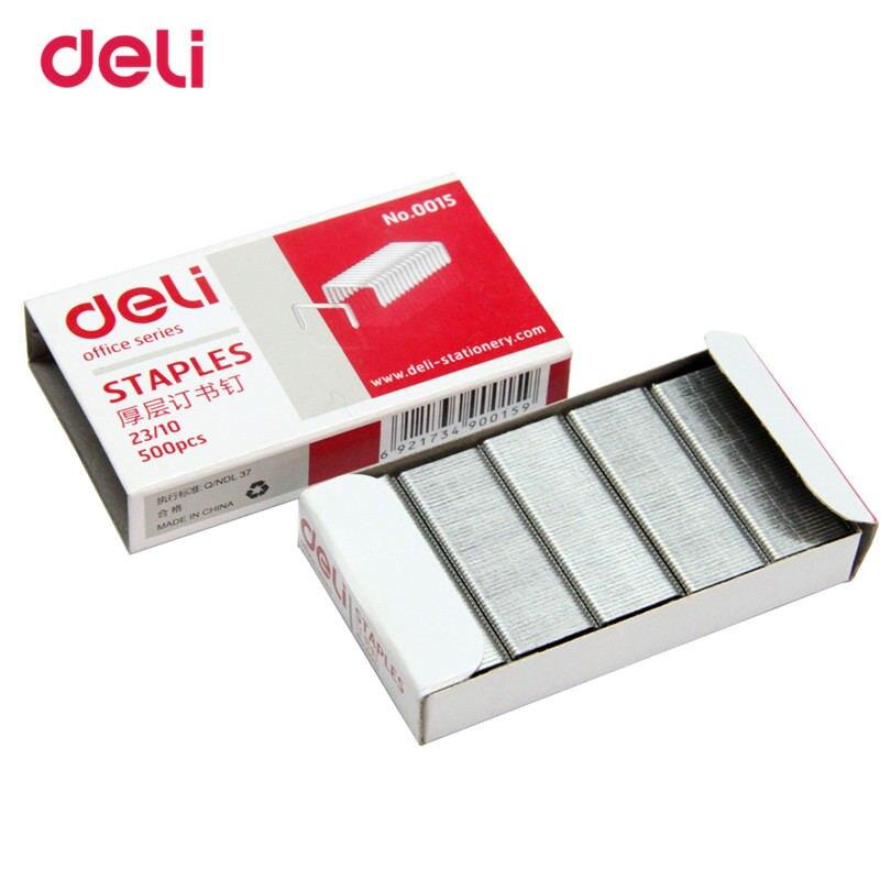 [해외]12mm hight staples crwon nails for deli Officel Metal Standards  Staples 23/10 Size Silver 500pcs A Box Normal Staple/12mm hight staples crwon nai