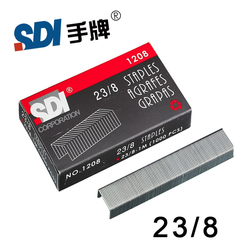 [해외]/Taiwan SDI 23/8 Heavy Duty Staple Staples in big Stapler Silver Metal 1000Pcs/Box 1208