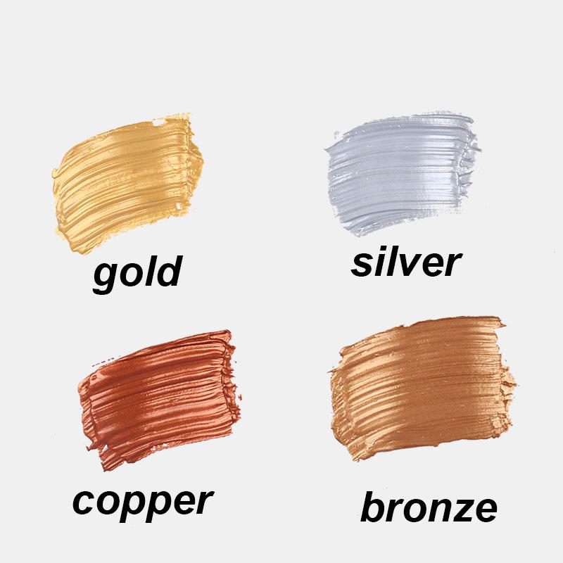 [해외]Gold/silver/copper/pink   flash Acrylic Paint Painting 50ml  Winsor&Newton noble style waterproof   Sunscreen school supplies/Gold/silver/copp