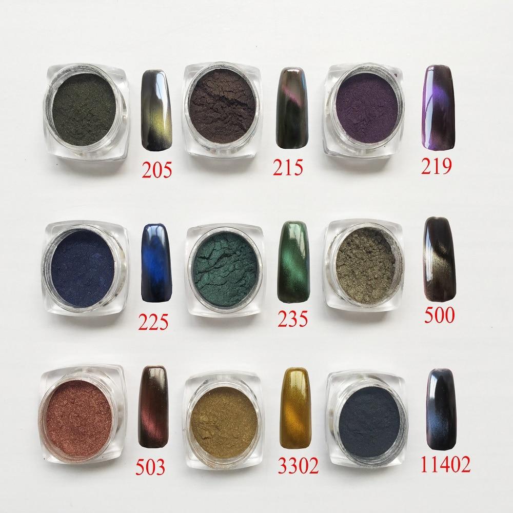 [해외]magic pigment 3D pigment 3D Cat Eyes Magnetic Nail Glitter Powder Magic Magnetic Glitter Dust UV Gel Manicure Nail Art Pigment/magic pigment 3D pi