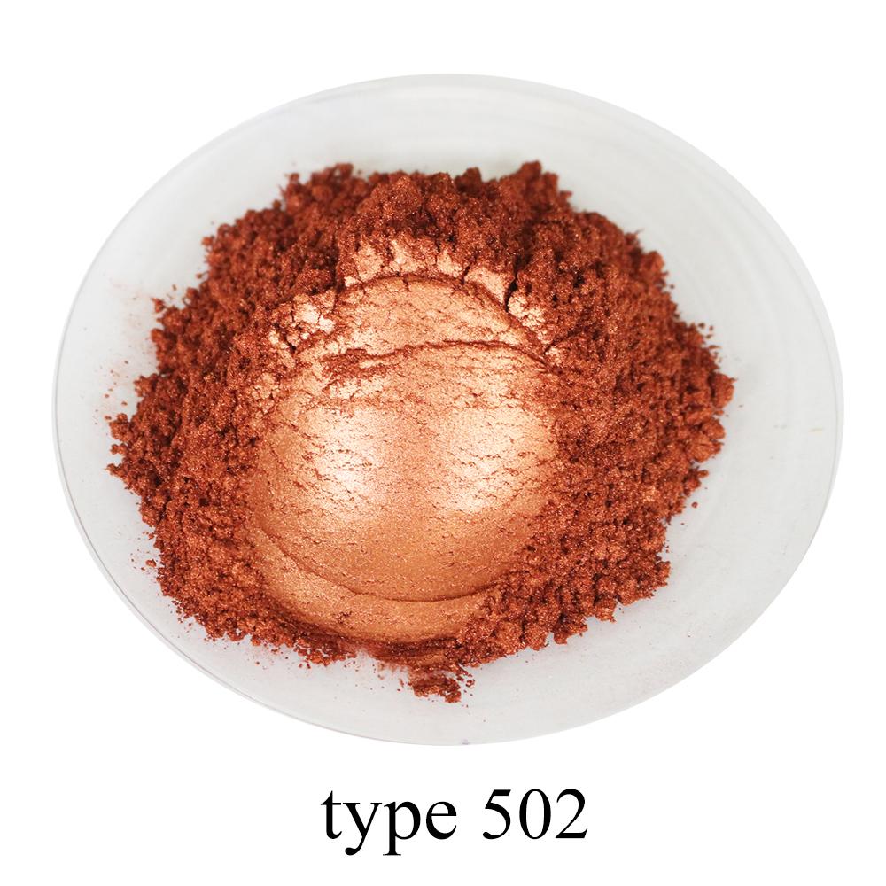 [해외]Type 502 Pigment Pearl Powder Healthy Natural Mineral Mica Powder DIY Dye Colorant,use for Soap Automotive Art Crafts, 50g/Type 502 Pigment Pearl