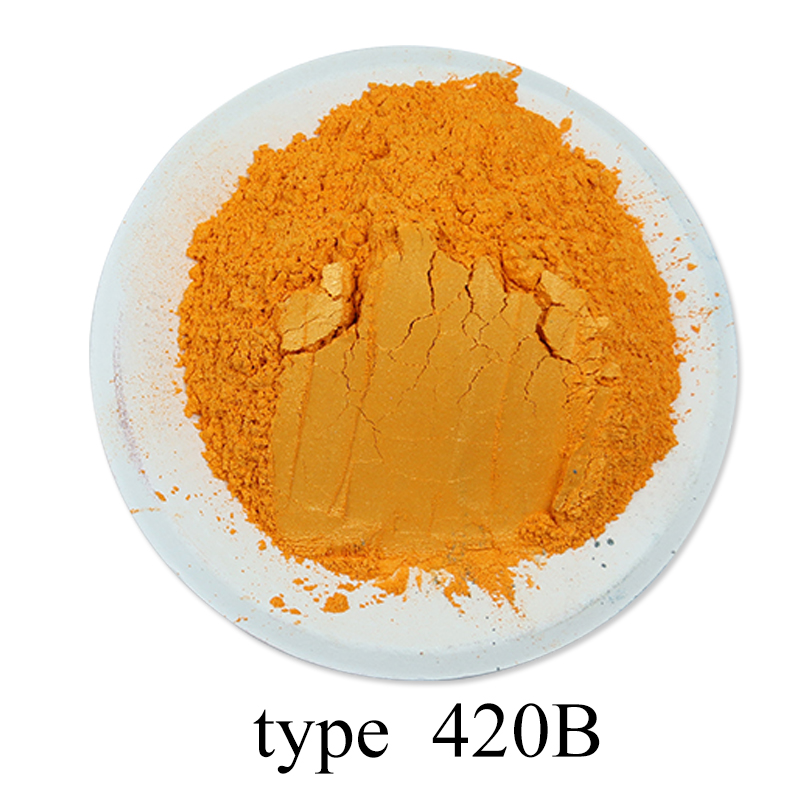 [해외]Type 420B Pigment Pearl Powder Healthy Natural Mineral Mica Powder DIY Dye Colorant,use for Soap Automotive Art Crafts, 50g/Type 420B Pigment Pear