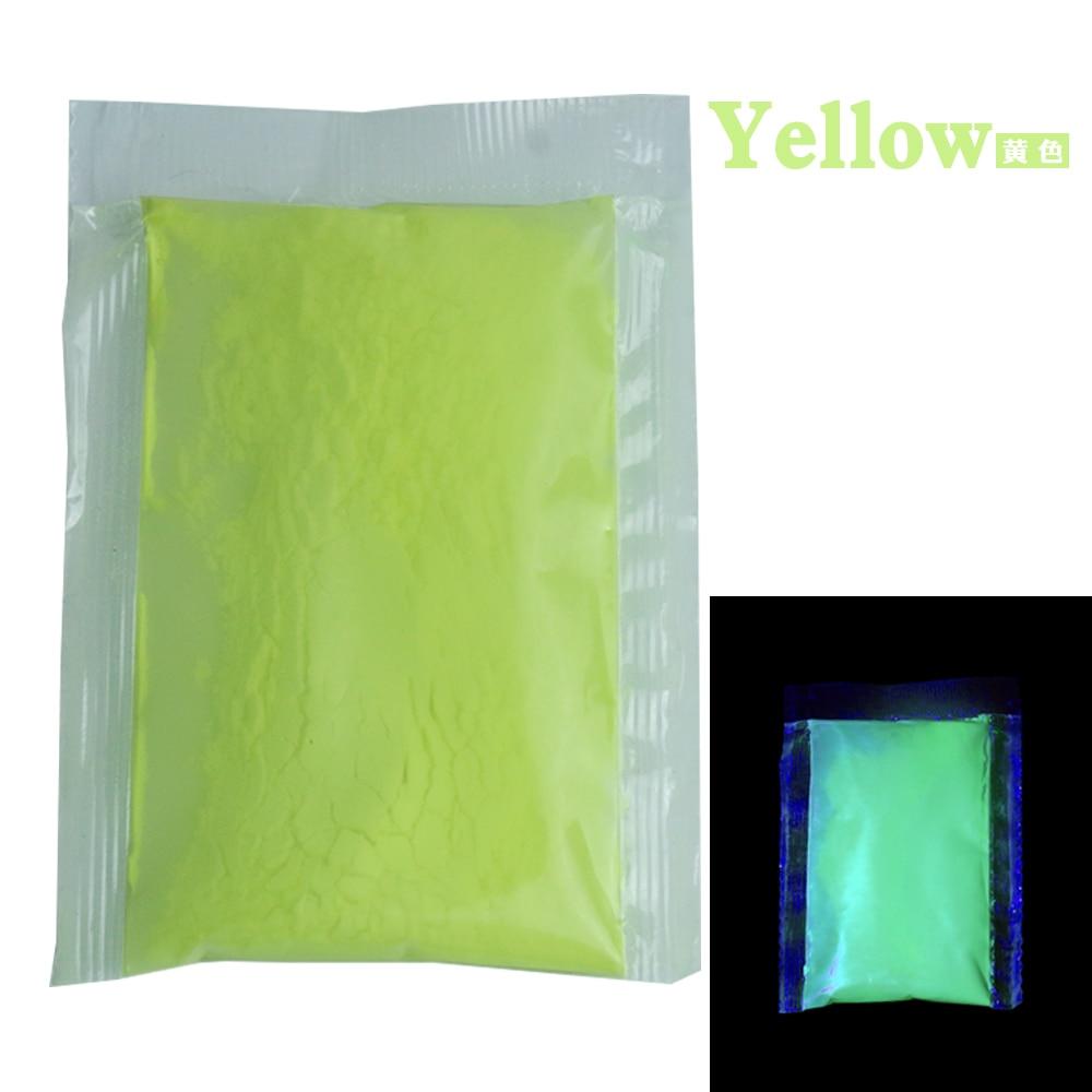 [해외]10g per Pack Yellow Color Luminous Paint Noctilucent Powder Fluorescence DIY Party Creative Glow In Dark Decorations for Home/10g per Pack Yellow
