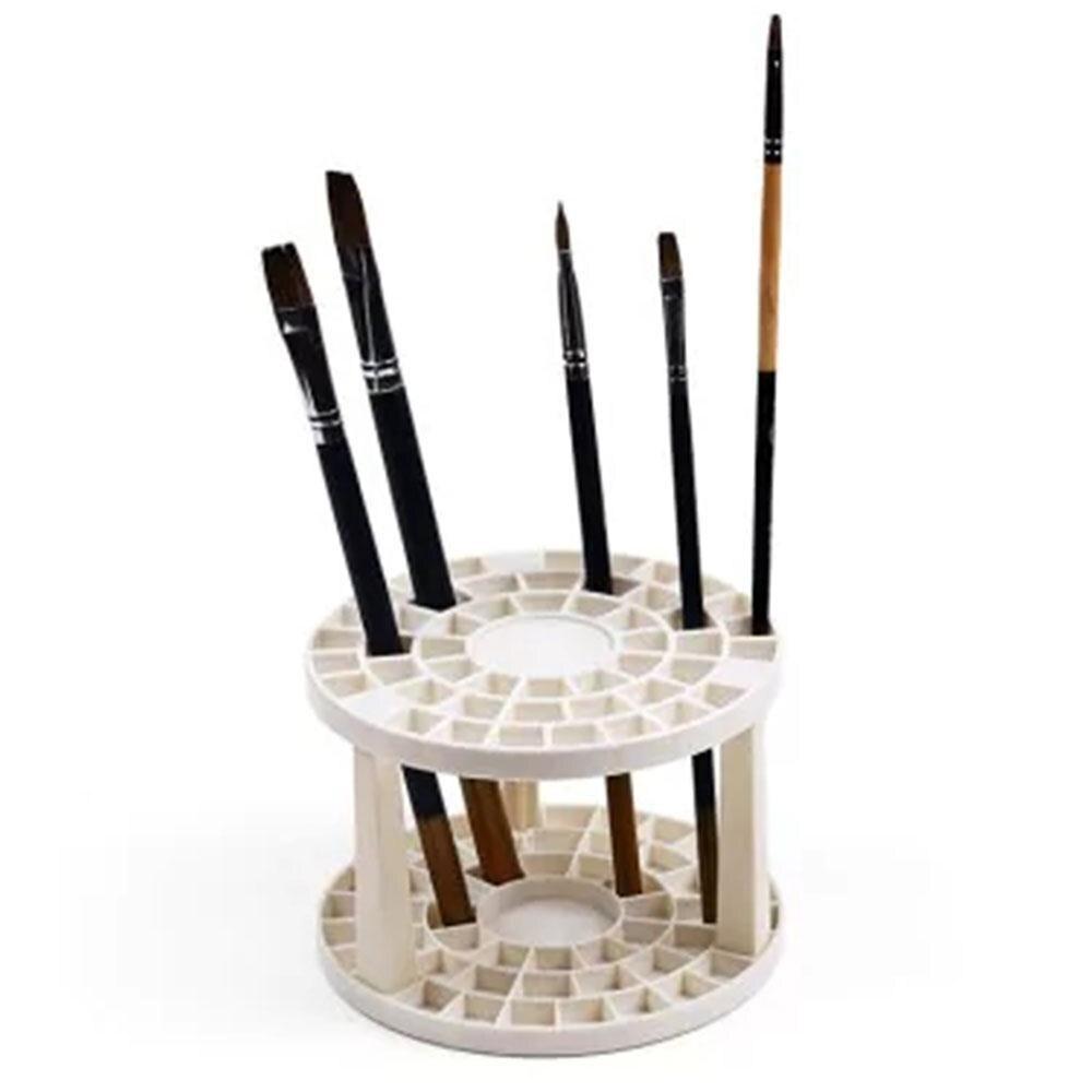 [해외]/49 Holes Paint Brush Pen Holder Stand Storage Rack Organizer Display Round