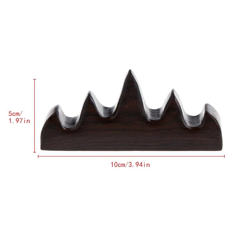 [해외]빈티지 나무로되는 브러시는 4 개의 구멍 서  펜꽂이 선반 홀더를 서있다/Vintage Wooden Brush Rest Stand 4 Slots Chinese Calligraphy Pen Rack Holder