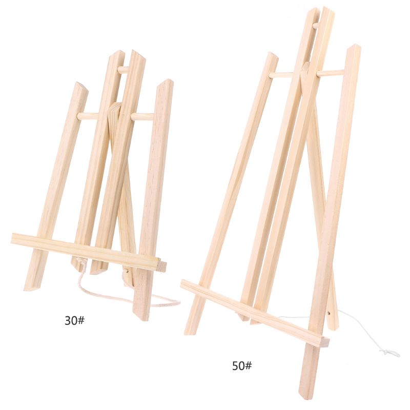 [해외]/Top Quality 30cm Wood Easel Advertisement Exhibition Display Shelf Holder Studio Painting Stand