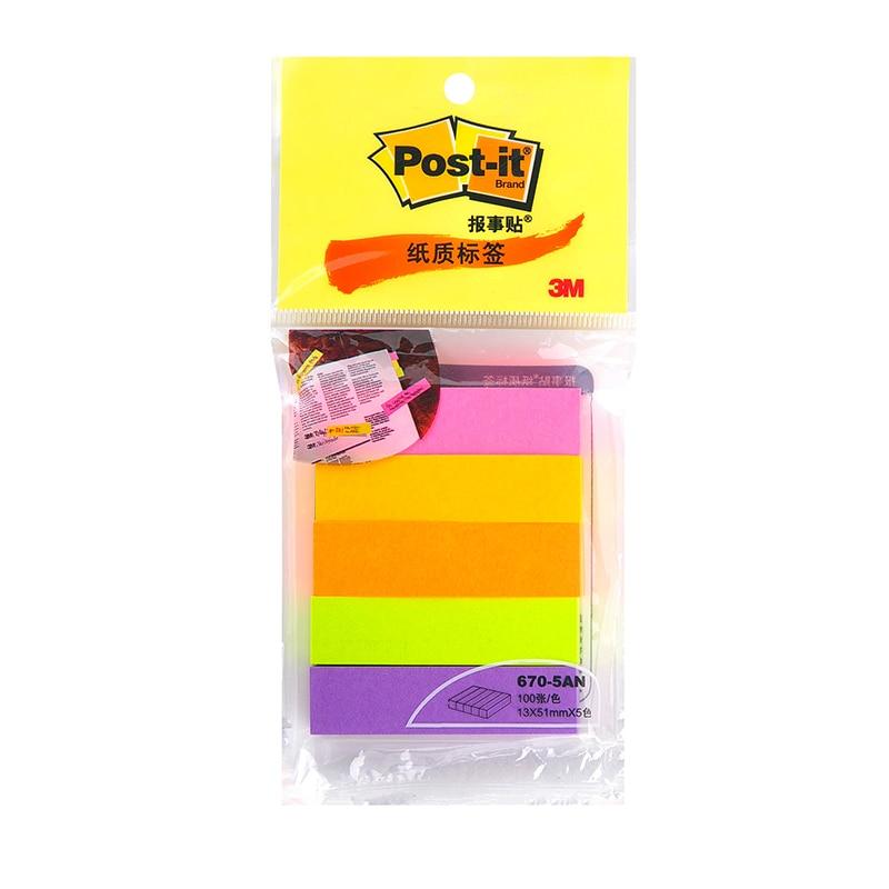 [해외]3M 4 package a lot 5 color pack Indication Label 100 pages per color Classification Filing Label Post 670-5AN Sticky Note Paper/3M 4 package a lot