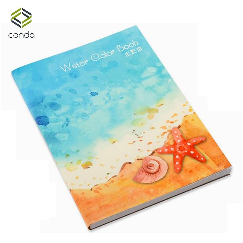[해외]Conda A4 Watercolor Paper Landscape Sketch Book 200gsm 30-Sheet Textured White Surface for Watercolor Painting Drawing Gift/Conda A4 Watercolor Pa