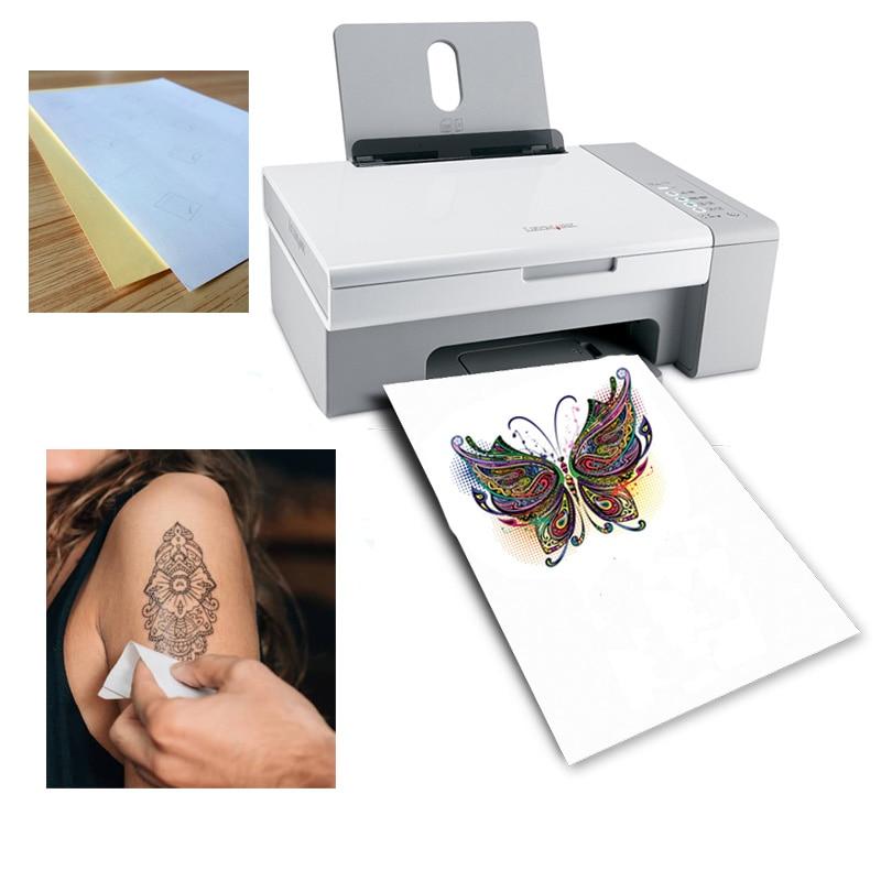 [해외]A4 Art Tattoos Paper DIY Waterproof Temporary Tattoo Skin PaperInkjet or Laser Printing Printers For Tatoo Men Children/A4 Art Tattoos Paper DIY W