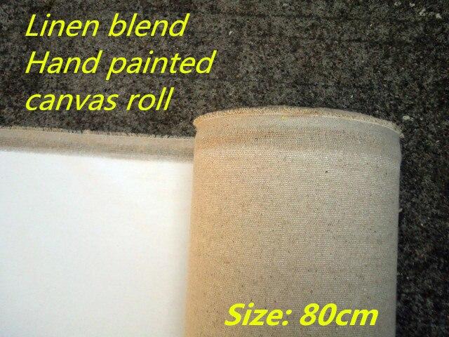 [해외]Fine texture 400gsm linen blend canvas roll, triple acid-free primed, 80cm wide, artist quality/Fine texture 400gsm linen blend canvas roll, tripl