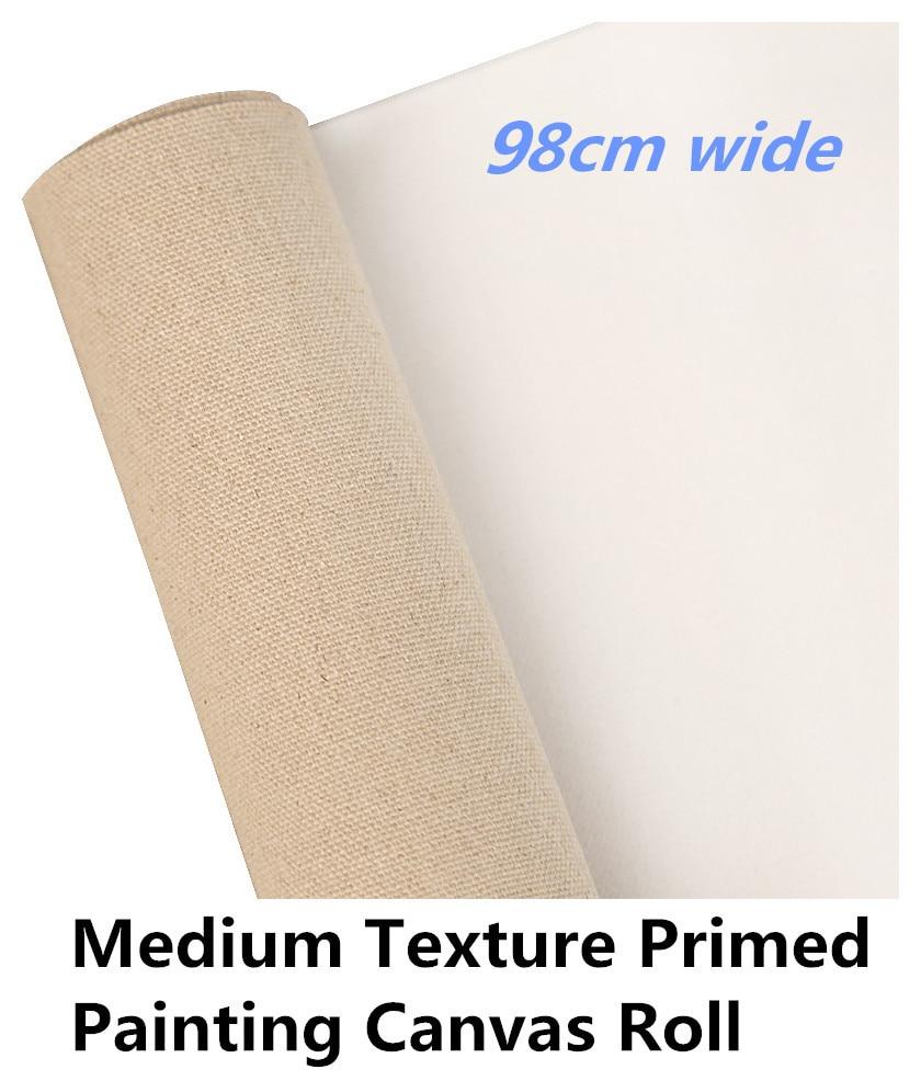 [해외]98cm wide High quality primed linen blend roll of canvas fabric for painting/98cm wide High quality primed linen blend roll of canvas fabric for p