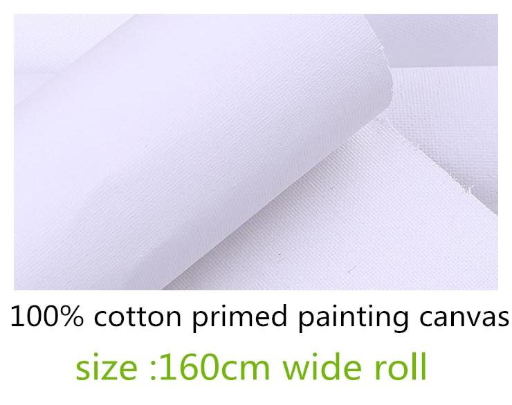 [해외]1.6m wide large format primed stretchable cotton painting canvas roll/1.6m wide large format primed stretchable cotton painting canvas roll