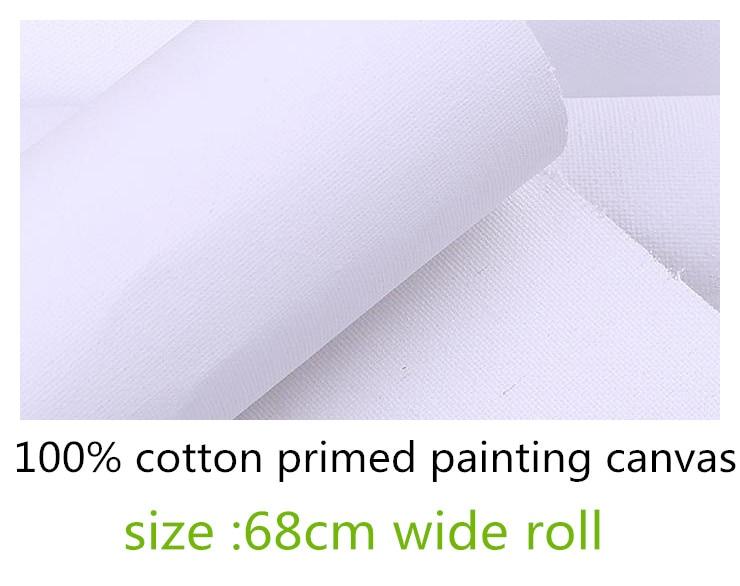 [해외]68cm wide pure cotton blank primed canvas for Acid Free Acrylic Priming/68cm wide pure cotton blank primed canvas for Acid Free Acrylic Priming