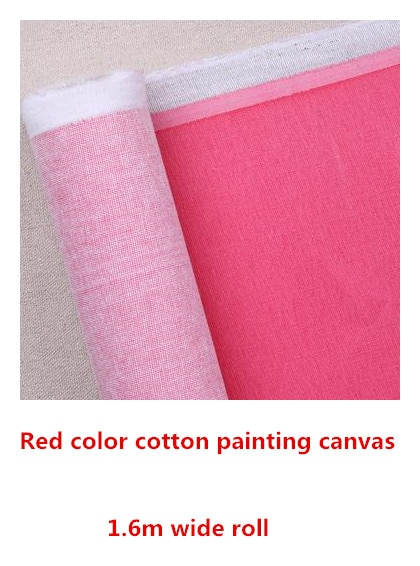 [해외]1.61m wide red color 325g cotton canvas for painting practice/1.61m wide red color 325g cotton canvas for painting practice