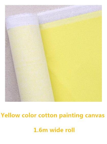 [해외]1.61m wide yellow color primed canvas pure cotton painting direct material 60in /1.61m wide yellow color primed canvas pure cotton painting direct