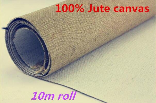 [해외]10m long roll high quality roll package pure jute primed canvasmedium texture/10m long roll high quality roll package pure jute primed canvasmediu