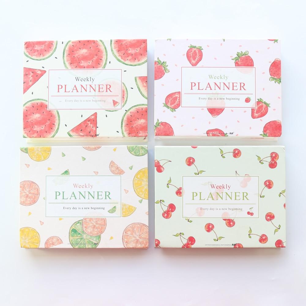 [해외]Domikee 2019 새로운 귀여운 과일 시리즈 매일 주간 플래너 노트, Kawaii 일일 일정 일정 계획자 주최자 A5/Domikee 2019 new cute fruit series daily weekly planner notebook,kawaii daily
