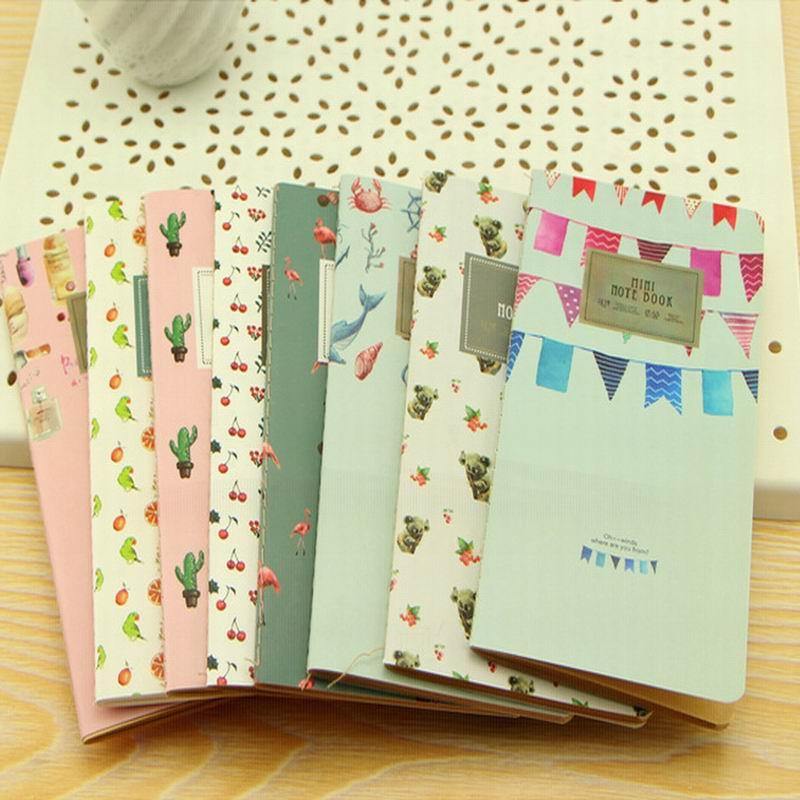 [해외]500 pcs New 24 Sheets Cactus Flamingo Cherry Week Planner Notebook To Do List Notebooks Blank Memo Pad School Supplies/500 pcs New 24 Sh