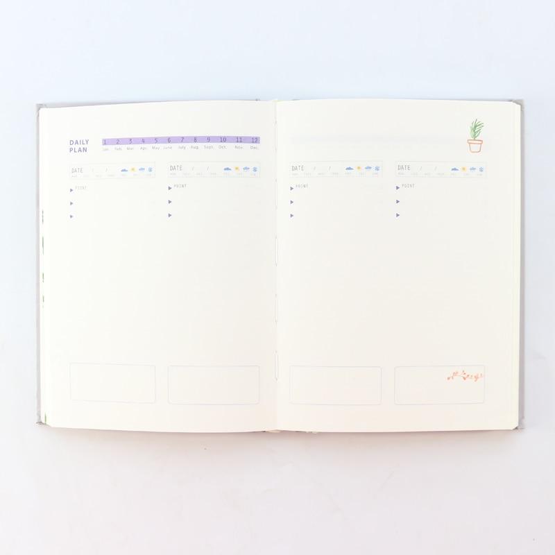 [해외]Domikee 2019 new classic hardcover diary daily planner notebooks,cute school person agenda planner organizer stationery A5/Domikee 2019
