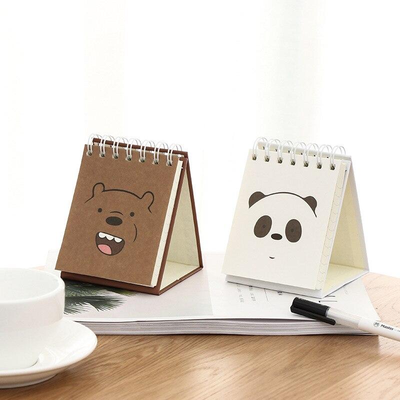 [해외]2019 귀여운 곰 플래너 코일 도서 편지지 만화 netbook 노트 나선형 도서/2019 귀여운 곰 플래너 코일 도서 편지지 만화 netbook 노트 나선형 도서