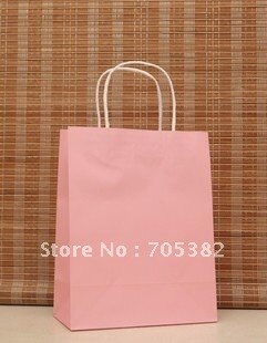 [해외]27*21*11cm Pink paper baghandle Christmas packing bags gift packaging supplies(ss-475)/27*21*11cm Pink paper baghandle Christmas packing bags gift