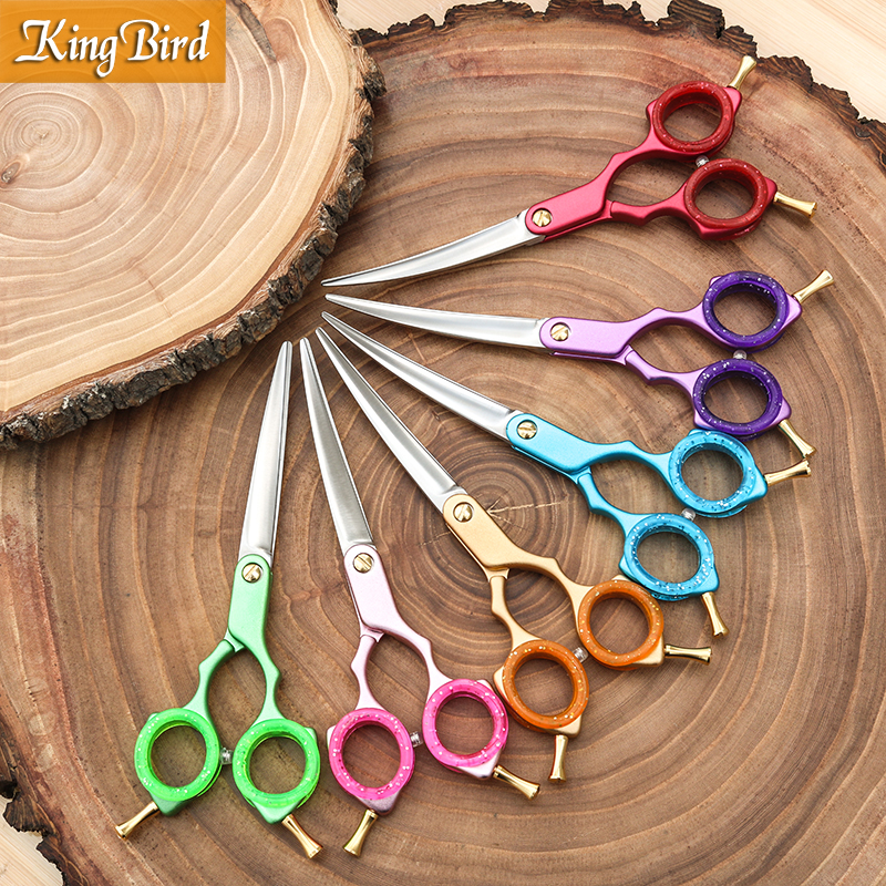 [해외]Professional Pet Dog Grooming Scissors Curved 6 Inch Curved Scissors Super Japan 440C Light weight 6 color Kingbird TOP CLASS/Professional Pet Dog