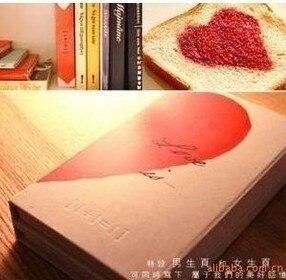 [해외]1pcs A63 편지지  Lianhua 사랑 메모장 사랑 접이식 노트북 일기 남성과 여성을위한/1pcs A63 Stationery Genuine Lianhua Love Notepad Love folding notebook Diaries for men and wo