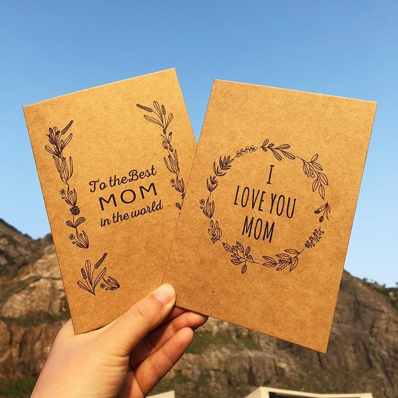 [해외]5pcs 세 어머니의 날 인사말 카드 크리 에이 티브 빈티지 크래프트 고맙습니다 카드 생일 인사말 추수 감사절 카드/5pcs Three Mother`s Day Greeting Cards Creative Vintage Kraft Thank You Card Birt