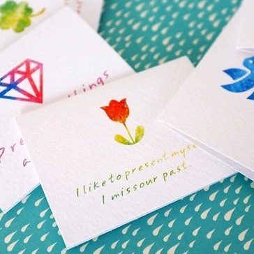 [해외]5pcs 9 원래 아름다운 절묘한 귀여운 다채로운 미니 어머니의 날 인사말 카드 생일은 발렌타인 데이 카드를 기원합니다/5pcs 9 original exquisite cute colorful mini Mother`s Day greeting card birthda