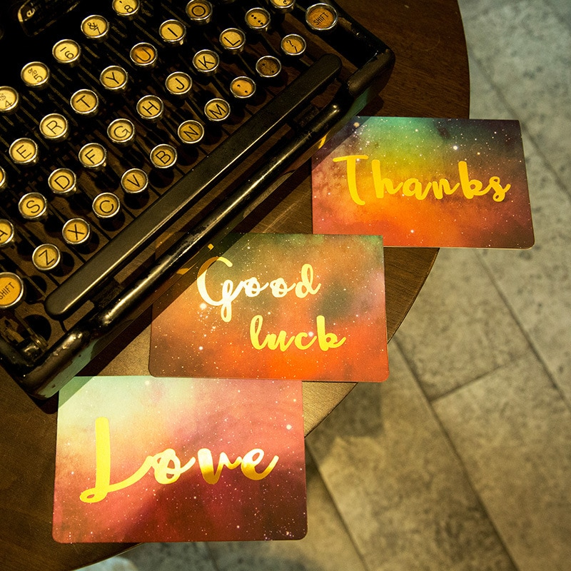 [해외]5pcs 생일 카드 스타 우표 스타 카드 카드 맞춤형 유니버설 발렌타인 카드 어머니 날 인사말 카드/5pcs  Stamping Birthday Card Star Wishes Card Customizable Universal Valentine`s Day Card