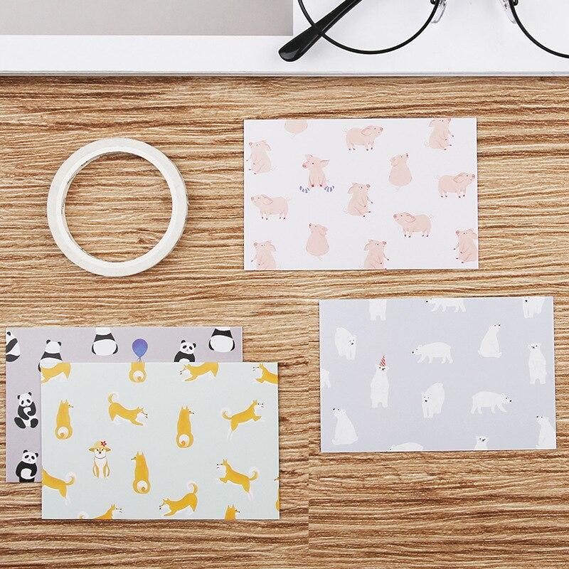 [해외]28pcs Office Forest Message   Small e06 e11 Lomo Card     Set Student Supply Postcard Note Lomo Card     Storage Envelope/28pcs Office Forest Mess