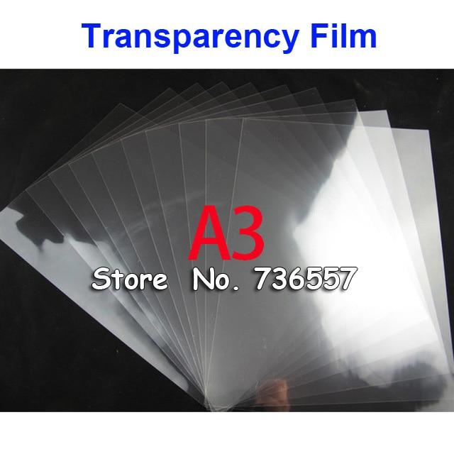 [해외]50 Pieces A3 PET Laser Printing Transparency Film Waterproof Transparency Film Screen Printing Transfer Film/50 Pieces A3 PET Laser Prin