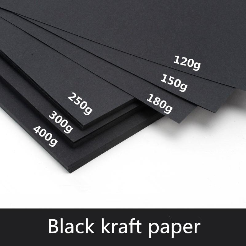 [해외]50pcs/lot A3 A4 A5 Black Kraft Paper DIY Card Making 120g 150g 180g 250g 300g 400g Craft Paper Thick Paperboard Cardboard/50pcs/lot A3 A4 A5 Black