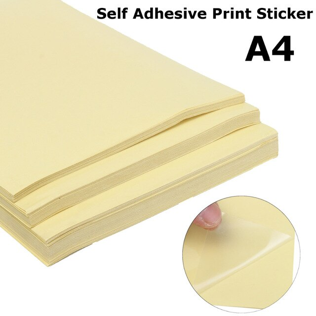 [해외]50pcs Clear Matte Adhesive Printer Paper A4 Self Adhesive Glossy Transparent Paper Label Sticker for Laser Printers/50pcs Clear Matte Adhesive Pri
