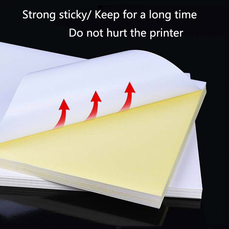 [해외]100 Sheets A4 Laser Inkjet Printer Copier Craft Paper White Self Adhesive Sticker Label Matte Surface Paper Sheet/100 Sheets A4 Laser Inkjet Print