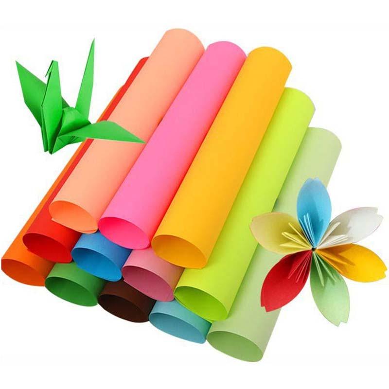 [해외]A4 Copy Paper Business Paper Print Document 100 sheets Note Paper Double Sided Color Craft Origami Multiple Colors Optional/A4 Copy Pape