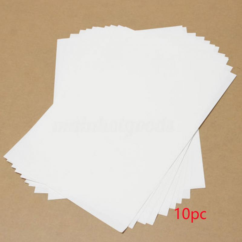 [해외]10Pcs Transfer Light Fabric Heat For Inkjet Printers Light Color Paper A4 Iron Onto T-shirts/10Pcs Transfer Light Fabric Heat For Inkjet Printers