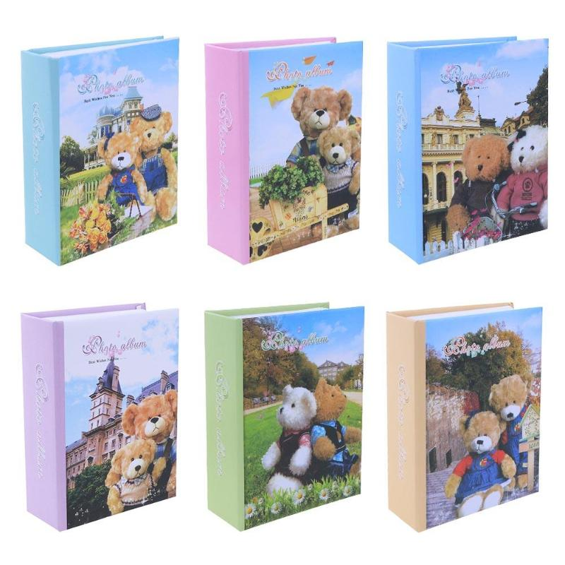 [해외]/6 inch Photo Album Interleaf Type Loose-leaf Cartoon Bear Cover 100 Sheets