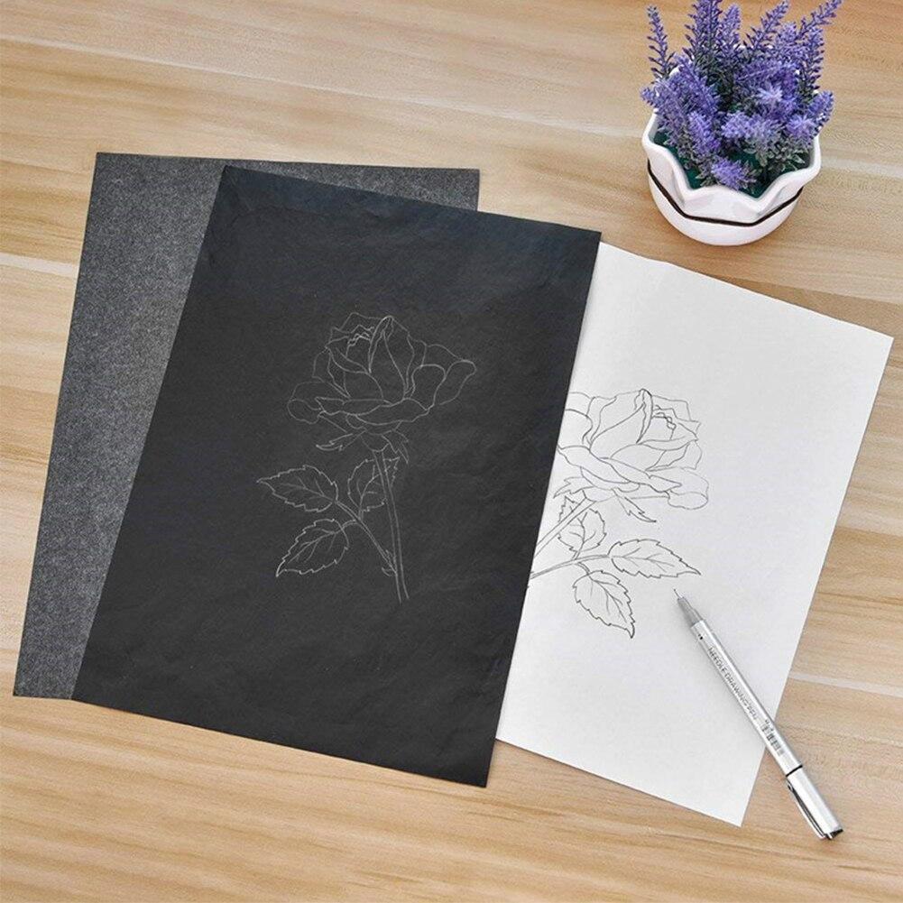 [해외]/100Pcs/Set A4 Copy Carbon Paper Painting Tracing Paper Graphite Painting Reusable Painting Accessories Legible Tracing 16