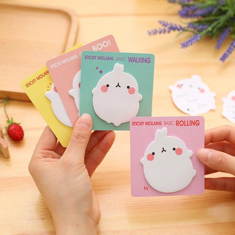 [해외]4pcs / lot Cute Rabbit 스티커 노트 캔디 컬러 카와이이 메모 패드 Pepalaria 문구 용품 학교 문구/4 pcs/lot Cute Rabbit Sticky notes Candy color Memo pads Kawaii Stationery sc