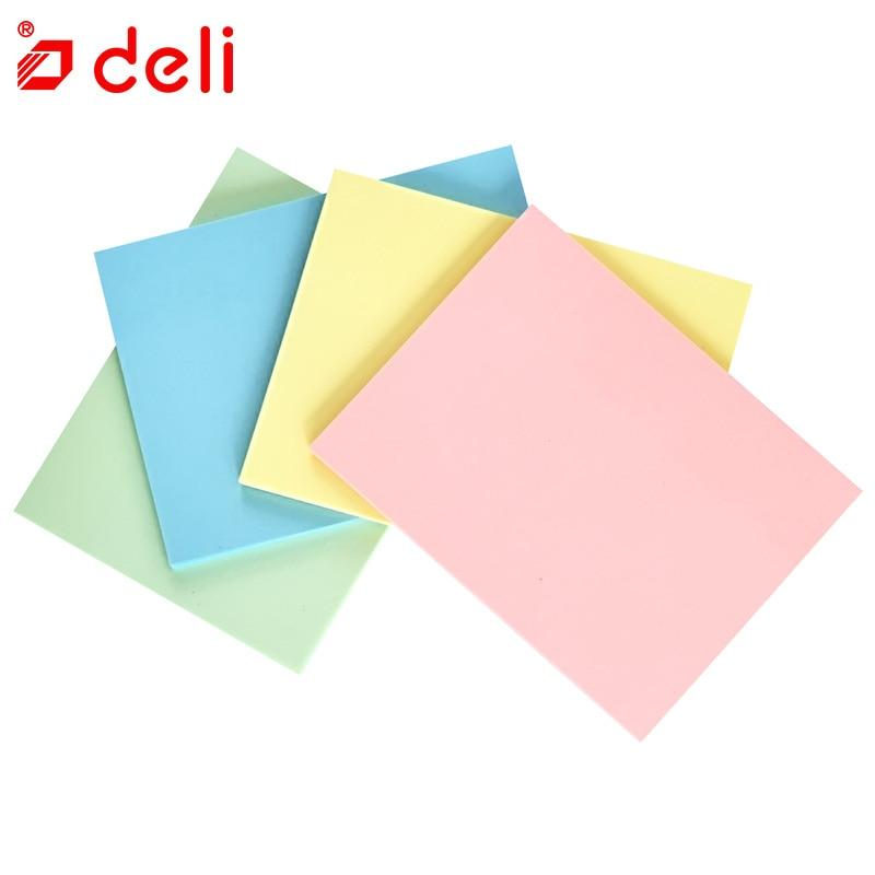 [해외]델리 4 색 셀프 접착 메모 패드 끈적 귀여운 캔디 색 끈적 노트 책갈피 It 마커 메모 스티커 용지 4 개 세트/Deli 4 colors Self Adhesive Memo Pad Sticky Cute Candy Color Sticky Notes Bookmark