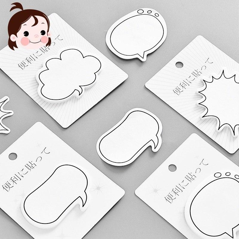 [해외]창의적인 대화 상자 끈적 패드 일본어 만화 메모 스티커 N Times Small Book Office Learning Stationery/Creative Dialog Box Sticky pad Japanese Cartoon Notes Sticker N Times
