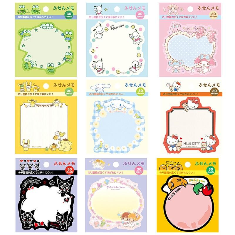 [해외]30 세트 메모 패드 스티커 메모 카와이이 디 종이 메모장 만화 개구리 스크랩북 스티커 Office School 편지지 북마크/30 Sets Memo Pads Sticky Notes Kawaii Diy Paper Notepad Cartoon Frog Scrapb