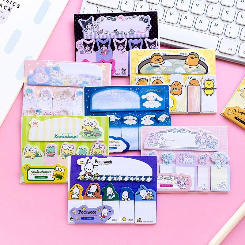 [해외]32 개 / 많은 만화 개구리 멜로디 트윈 스타 메모 패드 N 번 스티커 메모 Escolar Papelaria School Supply Bookmark Label/32 pcs/lot Cartoon Frog Melody Twin Star Memo Pad N Tim