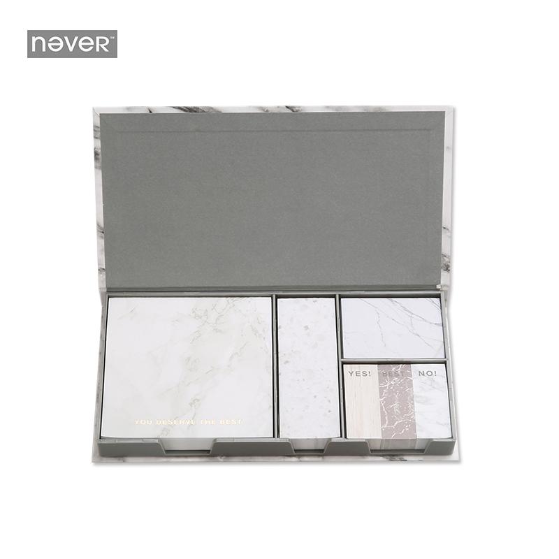 [해외]대리석 시리즈 스티커 메모 포스트 Set Sticker Box 자동 접착 용지 Office Accessorie 편지지 저장소 BLT38/Marble Series Sticky Notes Post SetSticker Box Self-adhesive Paper Off