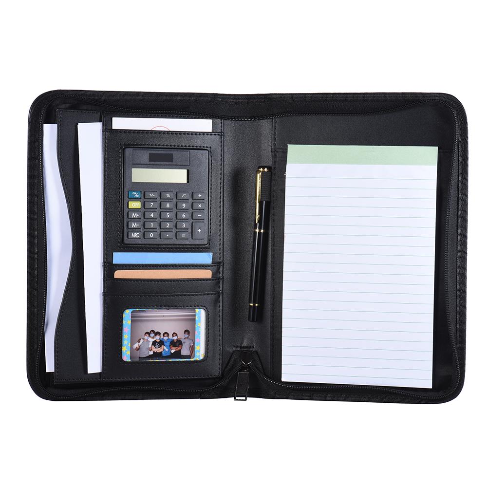 [해외]Padfolio PU 가죽 A5 휴대용 비즈니스 포트폴리오 패드 폴더 문서 케이스 주최 Portafolios Office Organizer/Padfolio PU Leather A5 Portable Business Portfolio Padfolios Folder