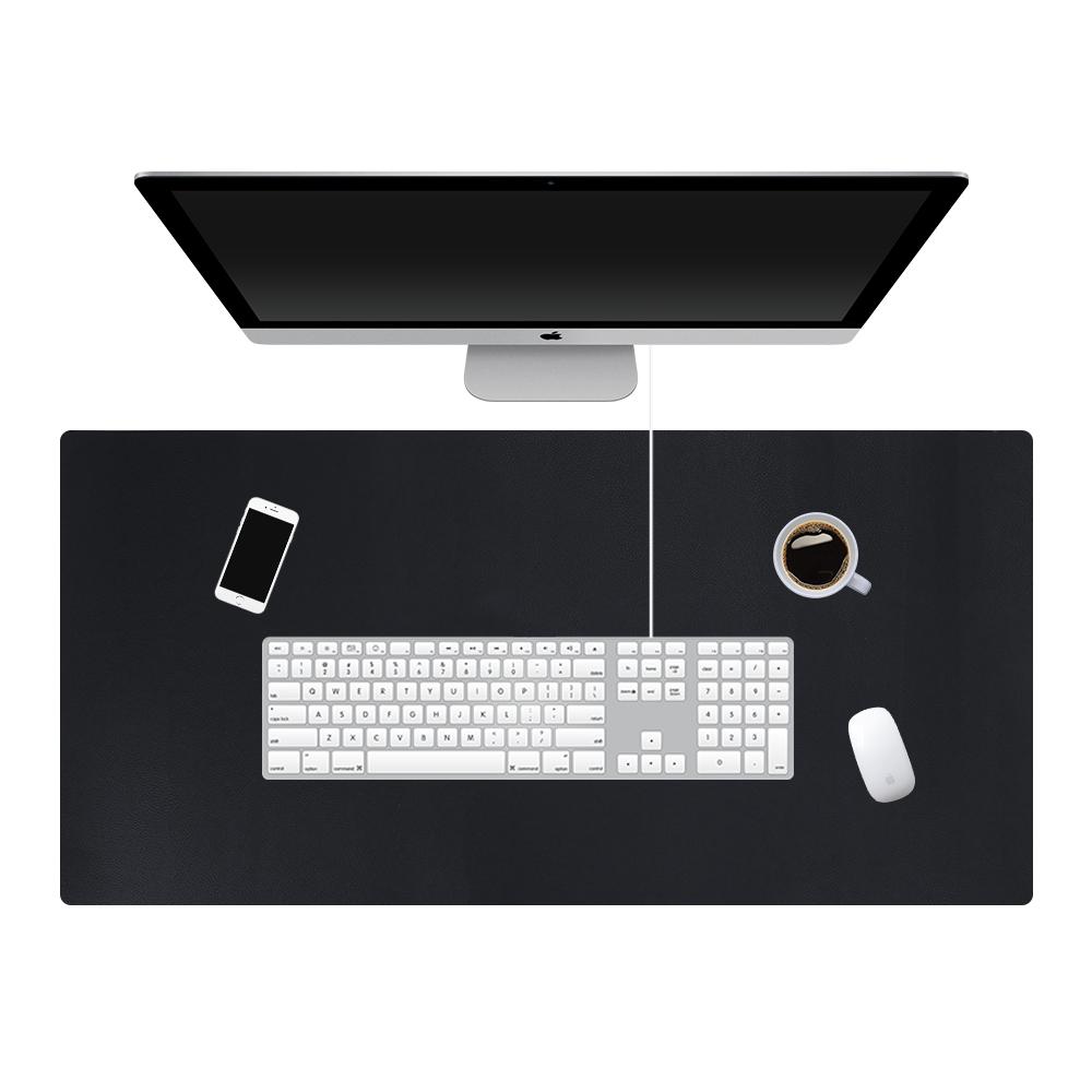[해외]120 * 60cm 큰 사무실 컴퓨터 책상 매트 더블 크기 PU 가죽 클립 보드 테이블 키보드 패드 노트북 전체 데스크 매트/120*60cm Large Office Computer Desk Mat Double sized PU Leather Clipboard Ta